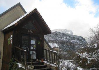 gite in winter