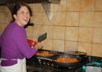 en cuisine  pour du potiron sauté!